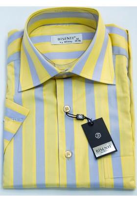 Sude Bisente Pamuklu Erkek Gömlek Kısa Kollu - Cepli 40905