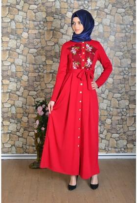 Modayns Nakışlı Elbise