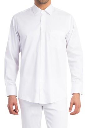 Kiğılı Uzun Kol Düz Saten Gömlek 124988