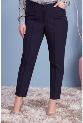 Rmg Kadın Büyük Beden Kumaş Pantolon Lacivert