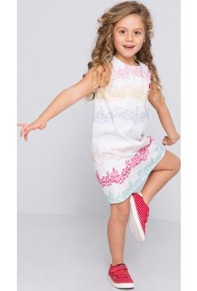 U.S. Polo Assn. Kız Çocuk Dandina Elbise Beyaz