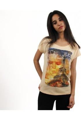 Loft Kadın T-Shirt Somon 2013822