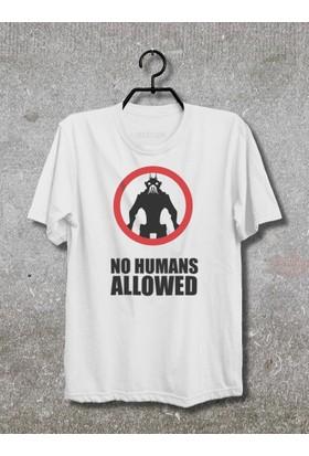 Vestimen No Humans Allowed Tshirt Tshirt No01 Beyaz Xlarge