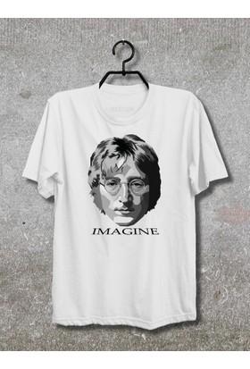 Vestimen John Lennon Tshirt Tshirt No04 Beyaz Xlarge