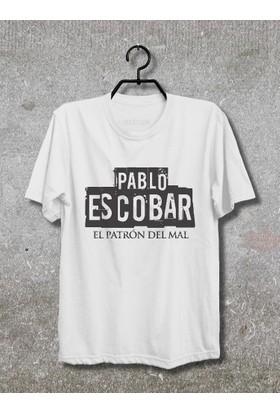 Vestimen Pablo Escobar Tshirt Tshirt No03 Beyaz Xlarge