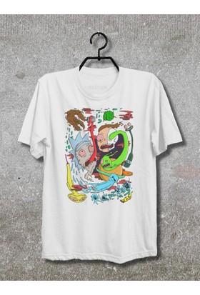 Vestimen Rick And Morty Tshirt Tshirt No06 Beyaz Xlarge