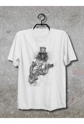 Vestimen Slash Tshirt Tshirt No01 Beyaz Xlarge