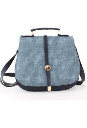 Cantamall 2620 Kadın Postacı Çanta Mavi