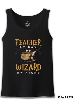 Lord T-shirt Teacher By Day Öğretmenler Günü Siyah Erkek Atlet