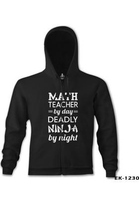 Lord T-shirt Math Teacher By Day Öğretmenler Günü Siyah Erkek Kapşonlu Sweatshirt