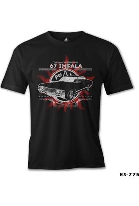 Lord T-shirt Supernatural 67 Impala Siyah Erkek T-Shirt