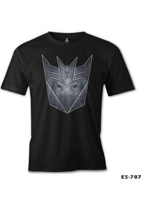 Lord T-shirt Transformers Logo 2 Siyah Erkek T-Shirt