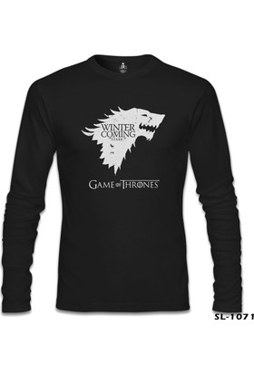 Lord T-shirt Game Of Thrones Winter Siyah Erkek Sweatshirt