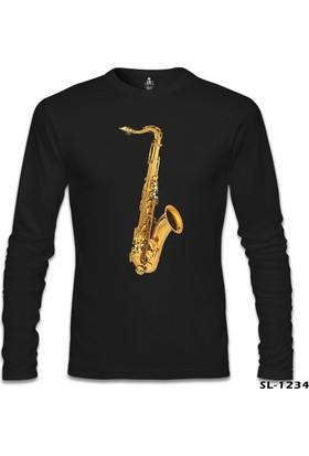 Lord T-shirt Saksafon Siyah Erkek Sweatshirt