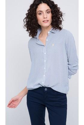 U.S. Polo Assn. Caleb Kadın Dokuma Gömlek
