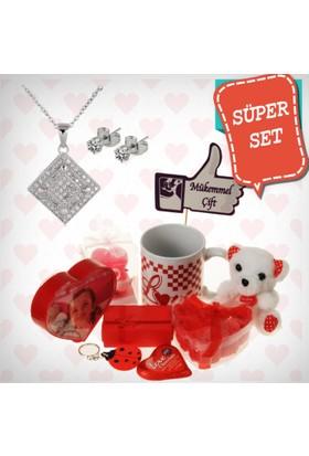 E-Hediyeci Sevgiliye Özel Hediye Paketi Takı Setleri 490080