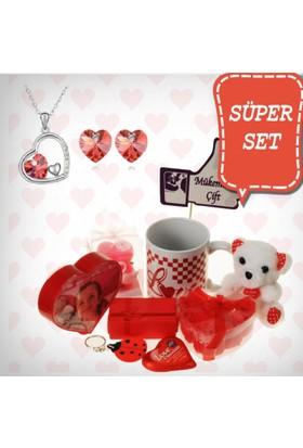 E-Hediyeci Sevgiliye Özel Hediye Paketi Takı Setleri 490126