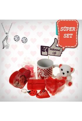 E-Hediyeci Sevgiliye Özel Hediye Paketi Takı Setleri 490135