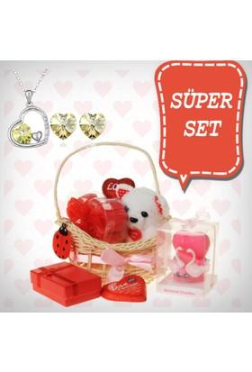 E-Hediyeci Sevgiliye Özel Hediye Paketi Takı Setleri 490141
