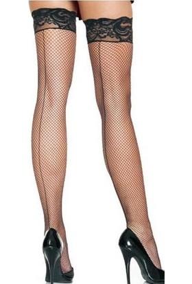 Virtual Siyah Seksi Jartiyer Çorap