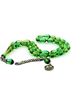 Wontis Gümüş Püsküllü Açık Yeşil Sıkma Kehribar Wnt-1150004