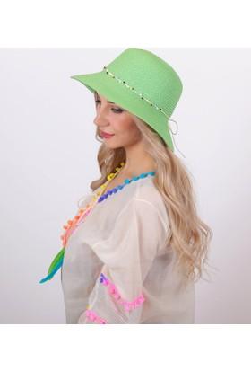 Bay Şapkacı Doğal Taş Şeritli Şapka