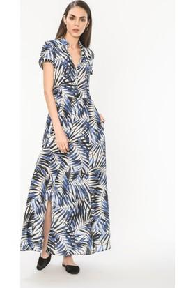 Just Like You 033 Yaprak Desen Elbise