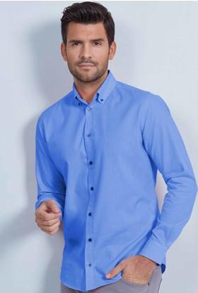 Hemington Mavi Oxford Spor Gömlek