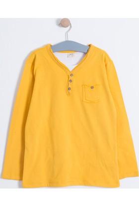 Soobe Pop Boys Cepli Uzun Kol T-Shirt Karamel