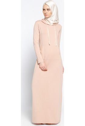 Kapüşonlu Elbise - Soğan Kabuğu - Everyday Basic