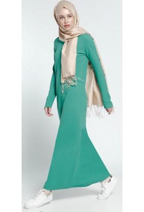 Natürel Kumaşlı Spor Elbise - Yeşil - Everyday Basic