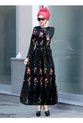 Gonca Elbise - Siyah - Selma Sarı Design