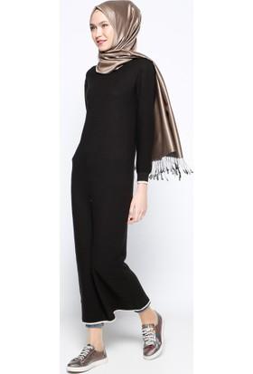 Mevsimlik Elbise - Siyah - Zentoni