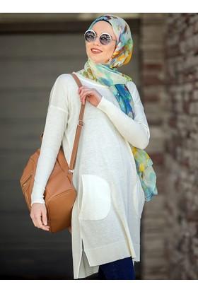 Salaş Triko Tunik - Krem - Seyhan Fashion