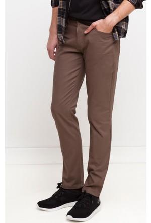 DeFacto Erkek Gabardin 5 Cep Pantolon Kahverengi