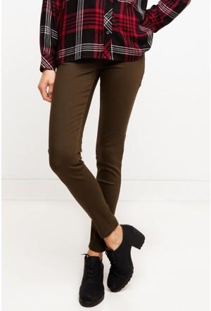 DeFacto Kadın Yüksek Bel Süper Skinny Pantolon Kahverengi