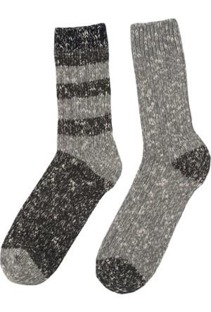 DeFacto Erkek Soket Çorap Gri Melanj