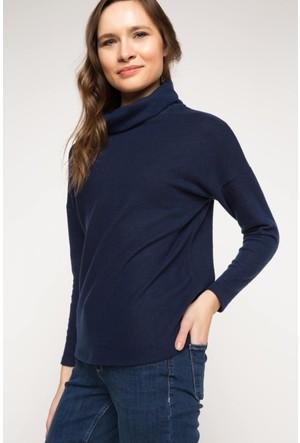 DeFacto Kadın Balıkçı Yaka Bluz Lacivert