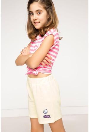 DeFacto Kız Çocuk Şort Sarı