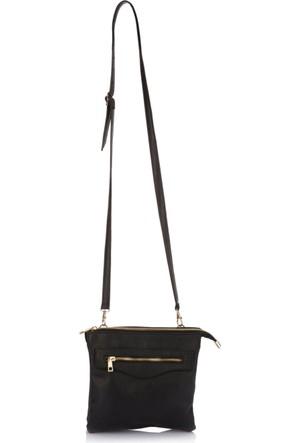 DeFacto Kadın Fermuar Detaylı Çanta Siyah