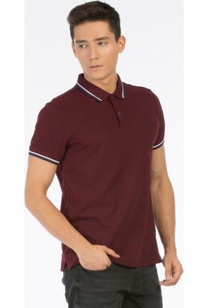 Colin's Bordo Erkek Kısa Kollu Polo T-Shirt