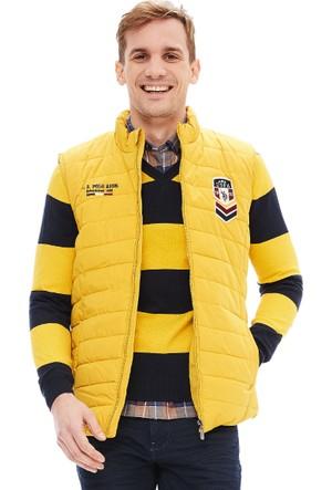 U.S. Polo Assn. Erkek Boris Yelek Sarı