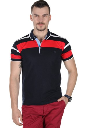 Brango 12441 Geniş Çizgili Polo Yaka 20 T-Shirt