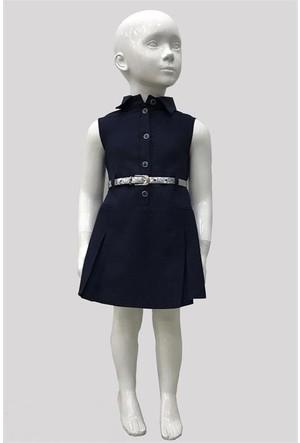 Varol Kids Kız Çocuk Elbisesi Lacivert 1 - 5 Yaş