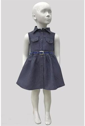 Varol Kids Kareli Kız Çocuk Elbisesi Siyah 1 - 5 Yaş