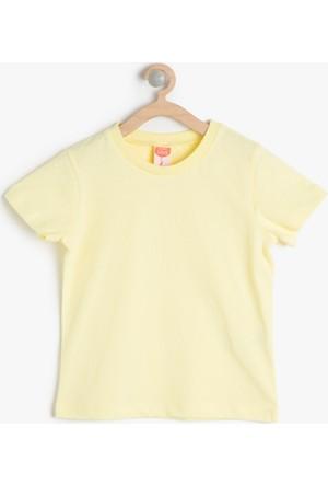 Koton Erkek Çocuk Bisiklet Yaka T-Shirt Sarı