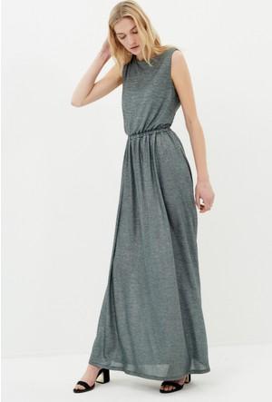 Koton Kadın Kolsuz Elbise Yeşil