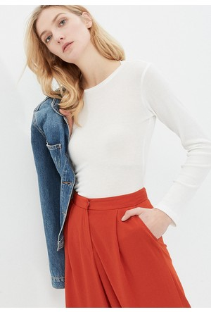 Koton Kadın Düz Sweatshirt Beyaz