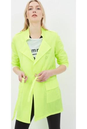 Koton Kadın Bağlamalı Ceket Sarı