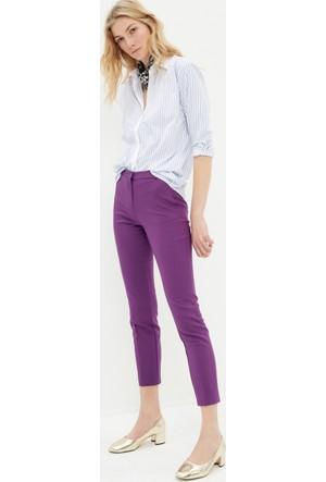 Koton Kadın Medium Bel Pantolon Mor